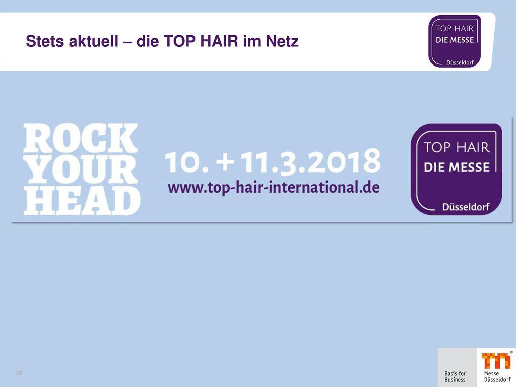 Stets aktuell – die TOP HAIR im Netz