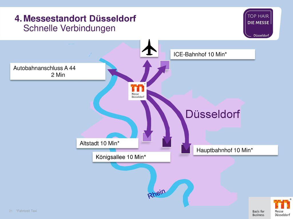 4. Messestandort Düsseldorf Schnelle Verbindungen