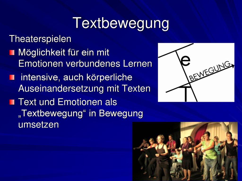 Textbewegung Theaterspielen