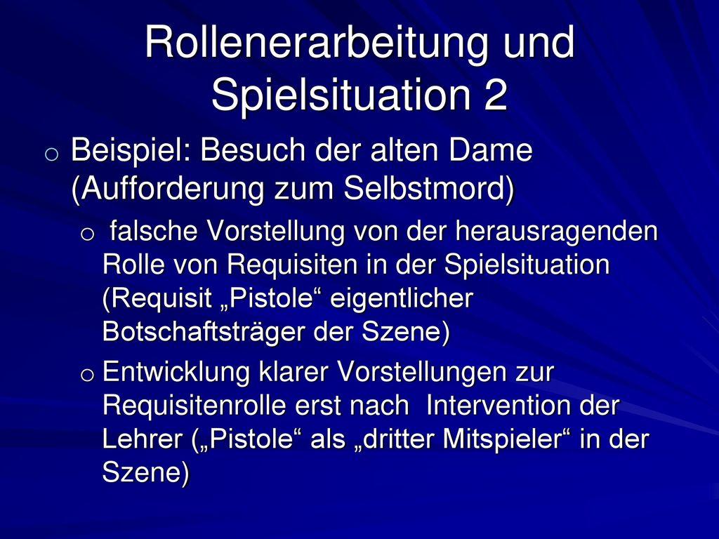 Rollenerarbeitung und Spielsituation 2