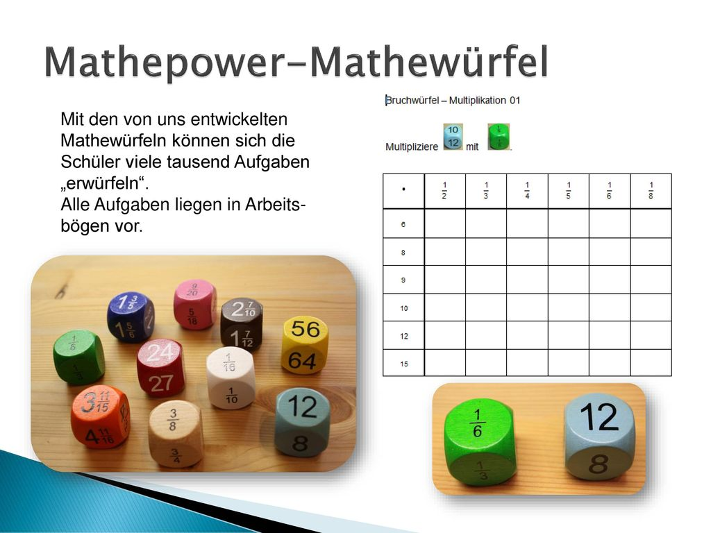 Mathepower-Mathewürfel