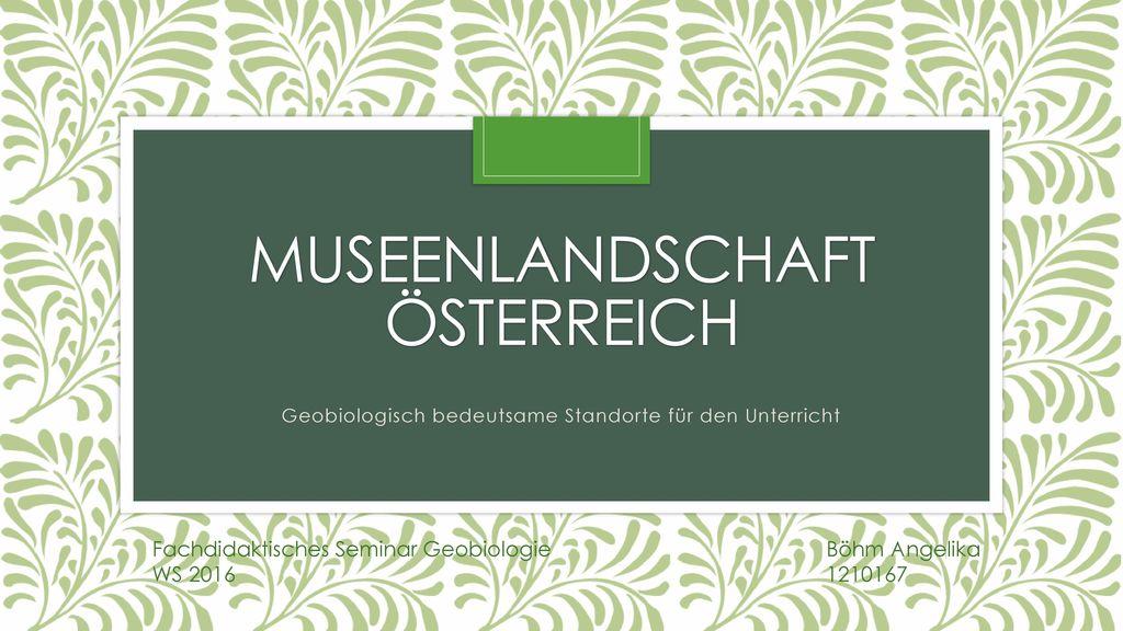 MuseenlandschafT Österreich