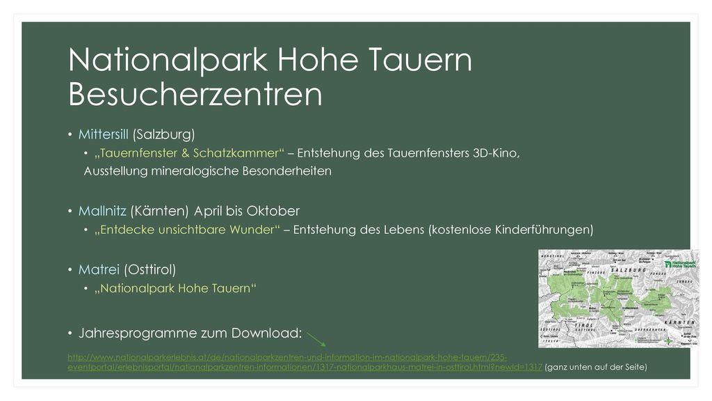 Nationalpark Hohe Tauern Besucherzentren