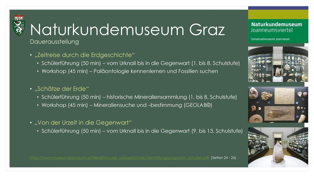 Naturkundemuseum Graz Dauerausstellung