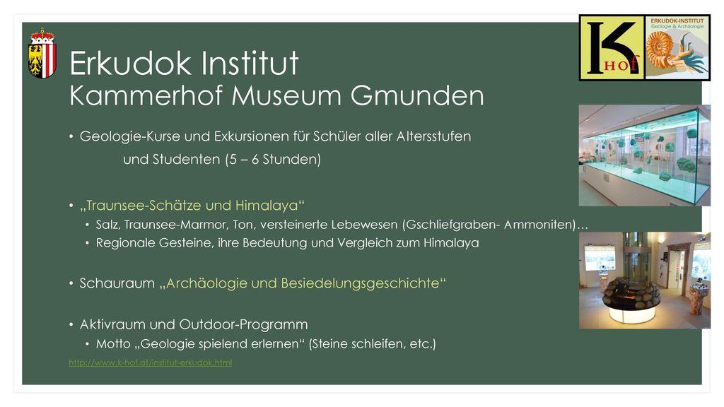 Erkudok Institut Kammerhof Museum Gmunden