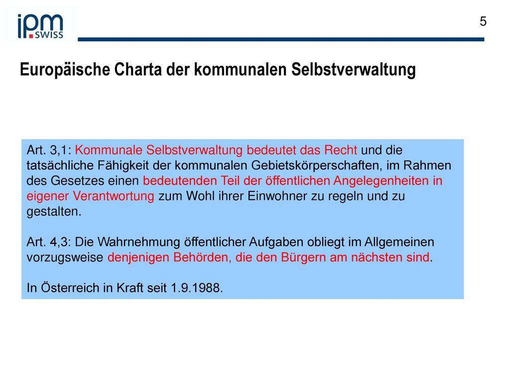 Europäische Charta der kommunalen Selbstverwaltung