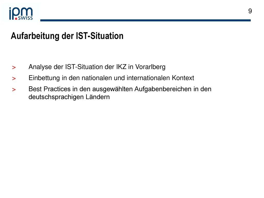 Aufarbeitung der IST-Situation