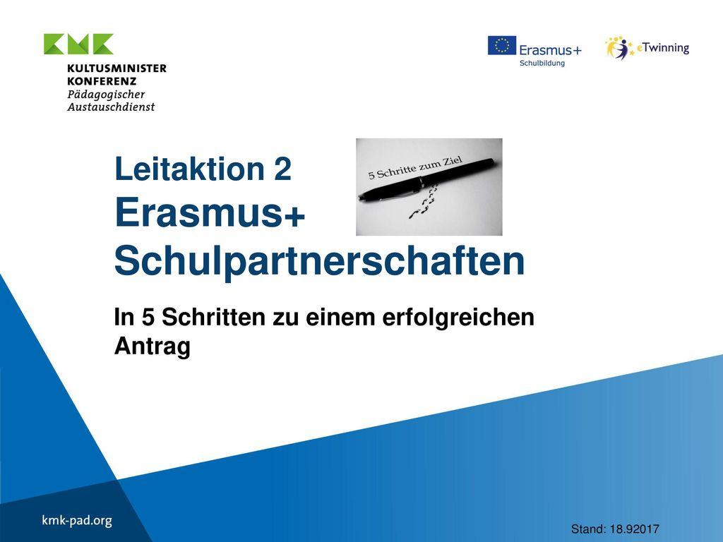Leitaktion 2 Erasmus+ Schulpartnerschaften