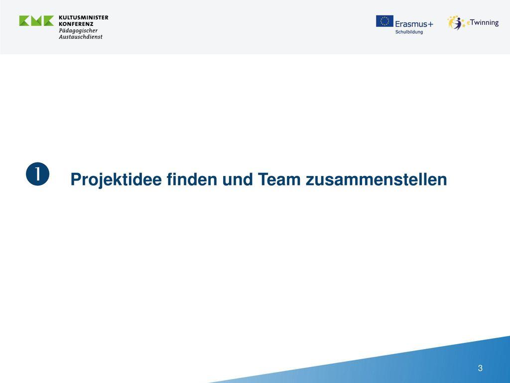  Projektidee finden und Team zusammenstellen