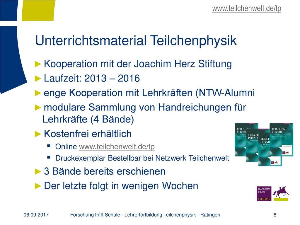 Unterrichtsmaterial Teilchenphysik