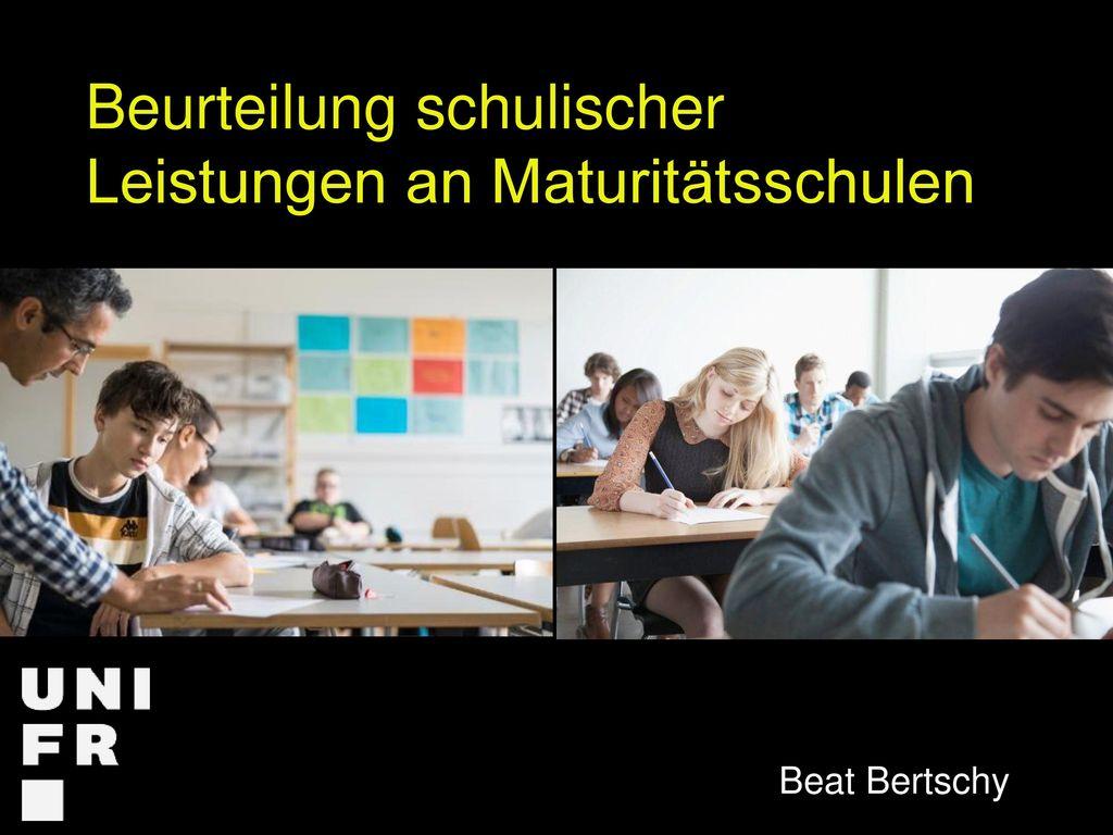 Beurteilung schulischer Leistungen an Maturitätsschulen
