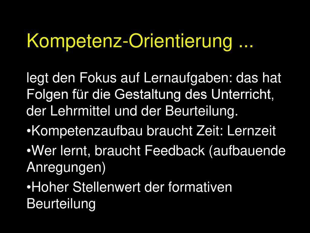 Kompetenz-Orientierung ...