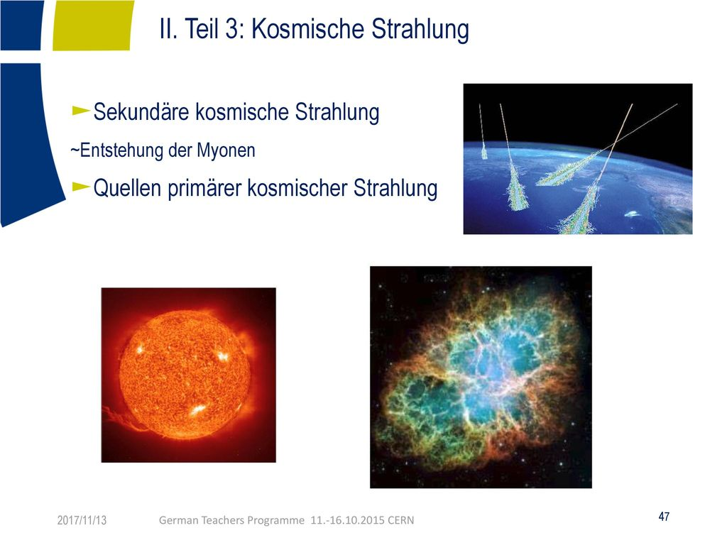 II. Teil 3: Kosmische Strahlung Fachtext: