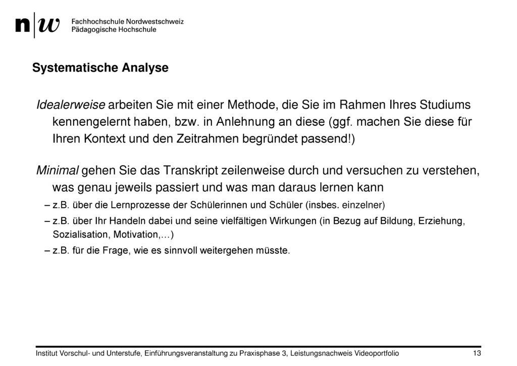 Systematische Analyse