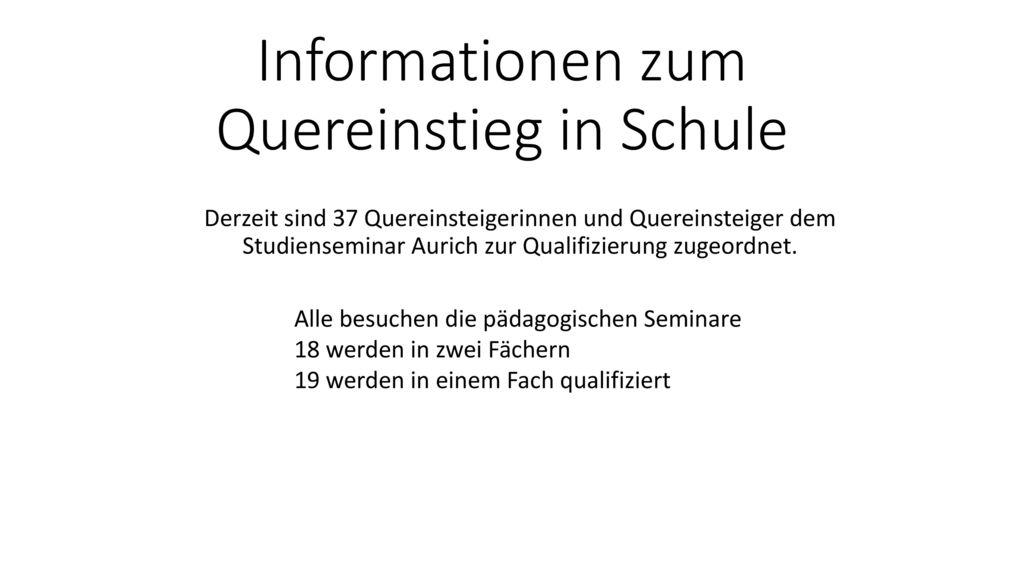 Informationen zum Quereinstieg in Schule