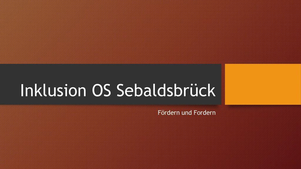 Inklusion OS Sebaldsbrück