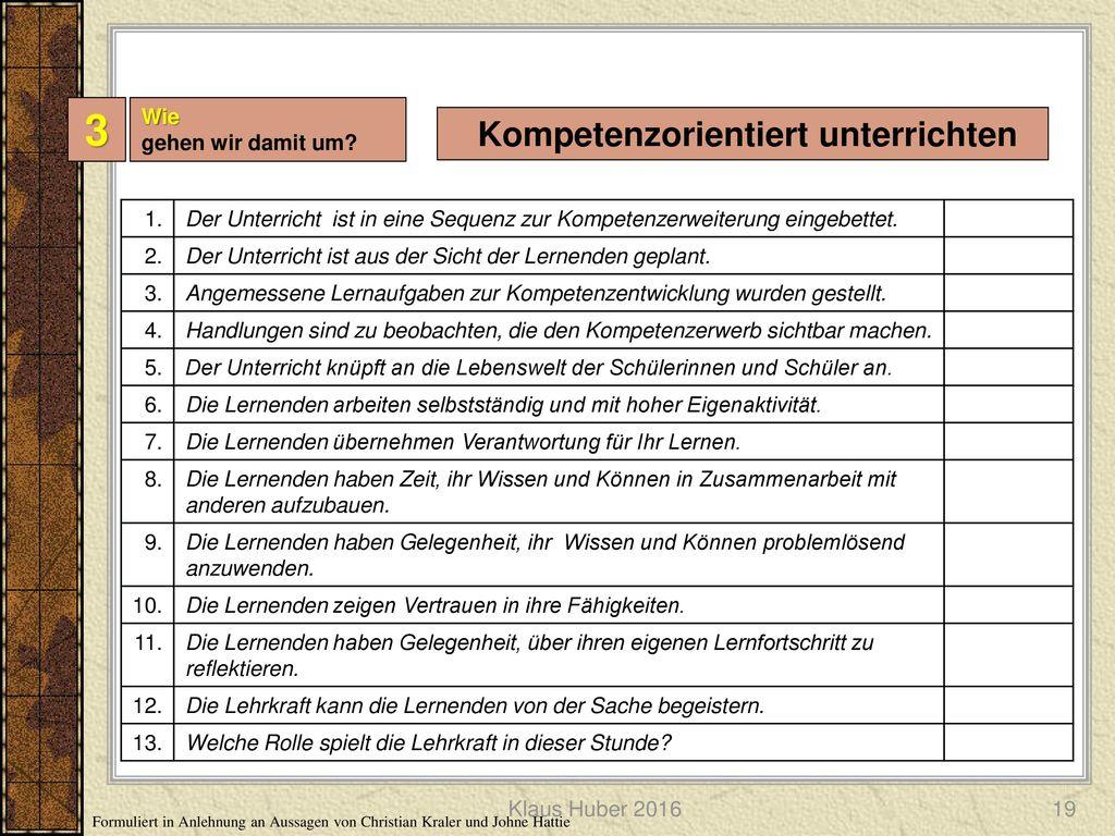 Kompetenzorientiert unterrichten