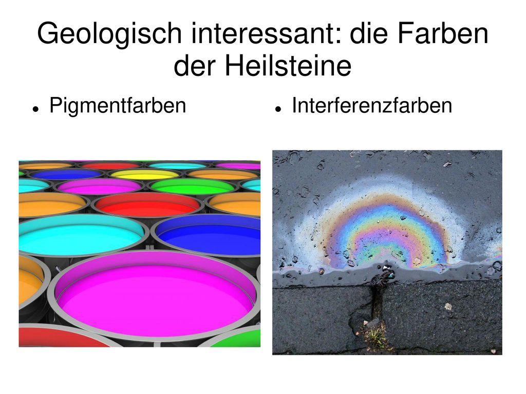 Geologisch interessant: die Farben der Heilsteine