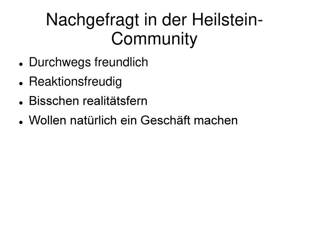 Nachgefragt in der Heilstein-Community