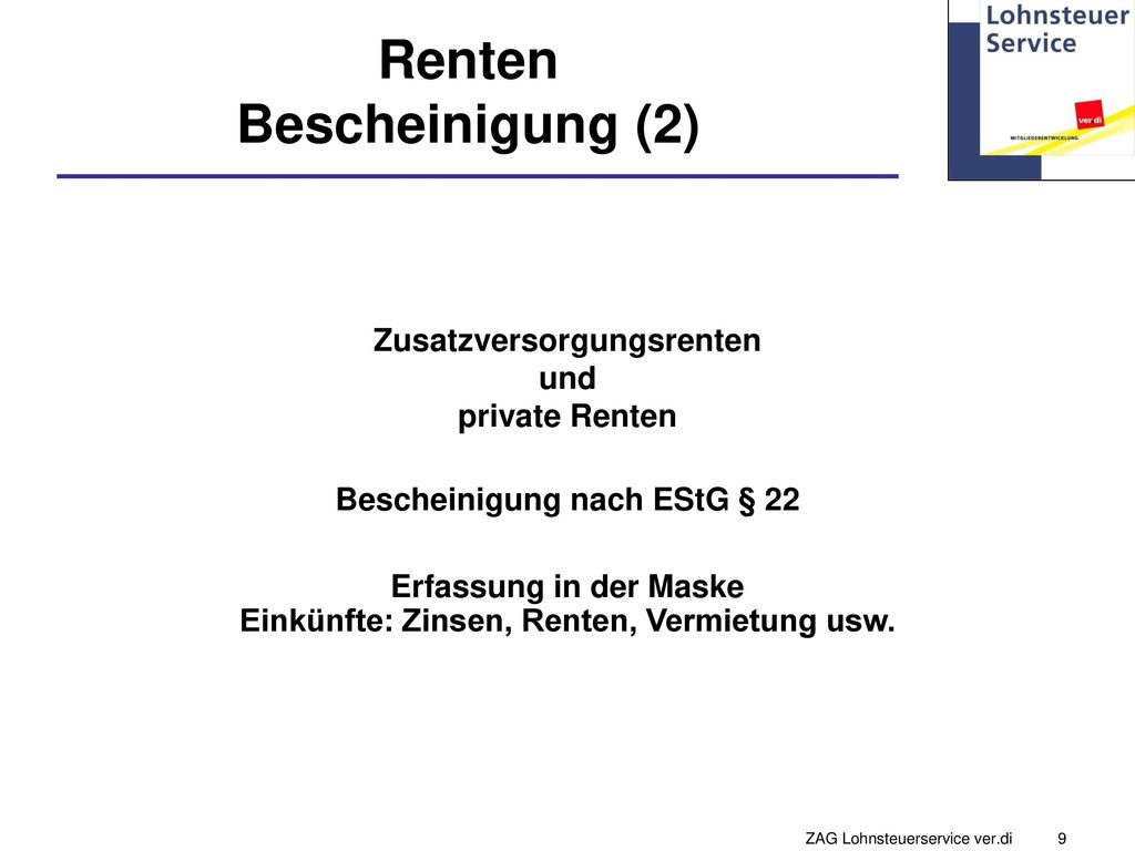 Renten Bescheinigung (2)