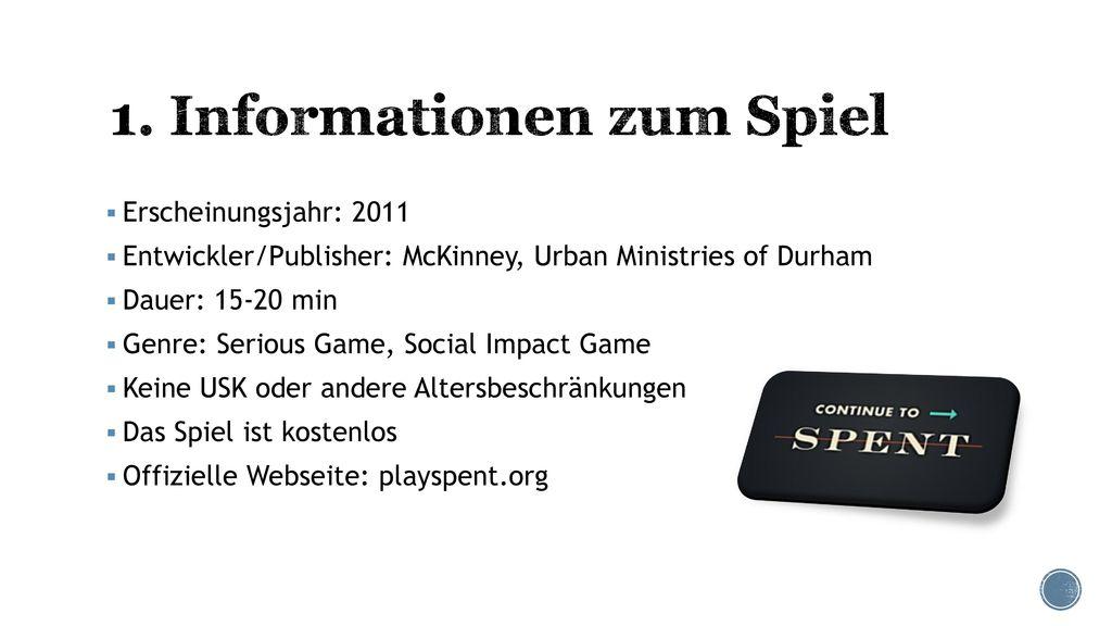1. Informationen zum Spiel