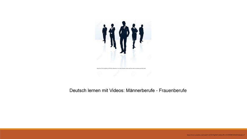 Deutsch lernen mit Videos: Männerberufe - Frauenberufe