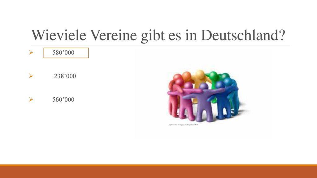 Wieviele Vereine gibt es in Deutschland