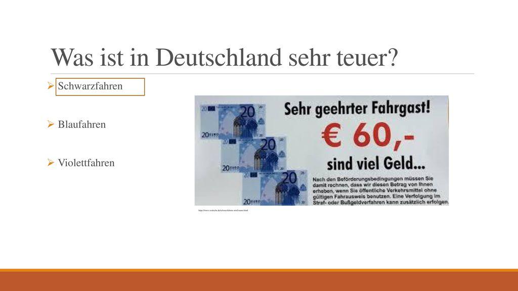 Was ist in Deutschland sehr teuer