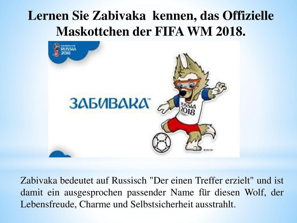 Lernen Sie Zabivaka kennen, das Offizielle Maskottchen der FIFA WM 2018.