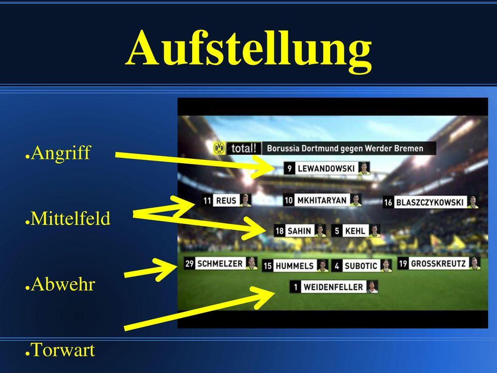 Das ist Borussia Lewandowski Schmelzer Reus Hummels Mkhitaryan Subotic