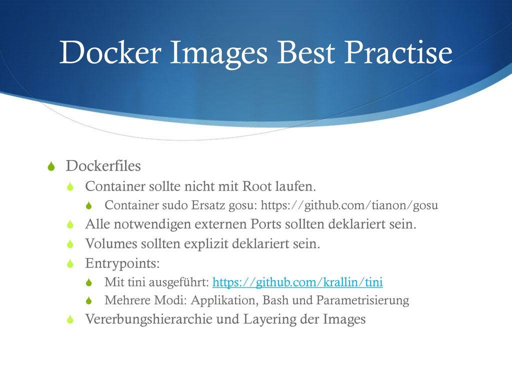 Docker Images Best Practise