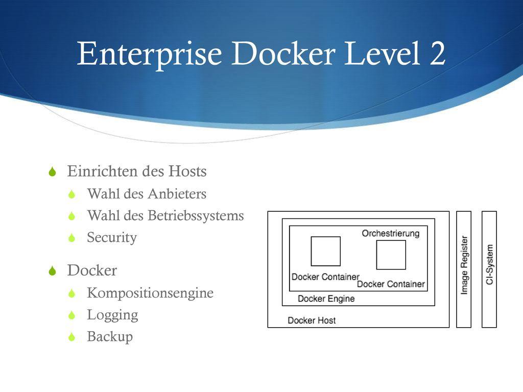 Enterprise Docker Level 2