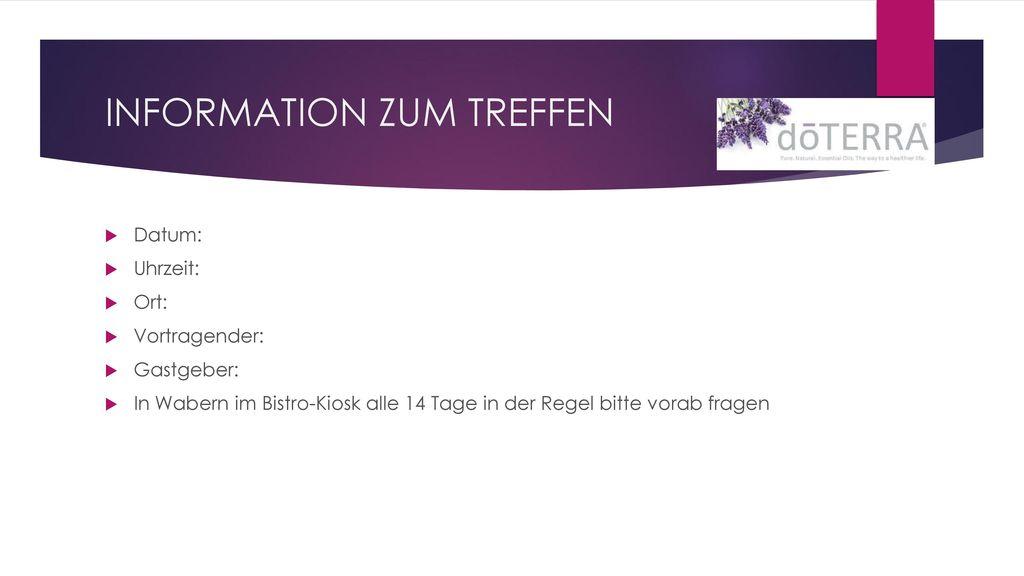 INFORMATION ZUM TREFFEN