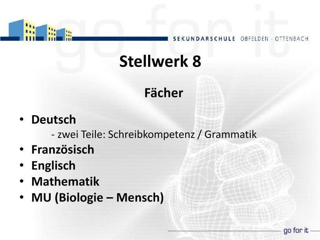 Stellwerk 8 Fächer Deutsch Französisch Englisch Mathematik