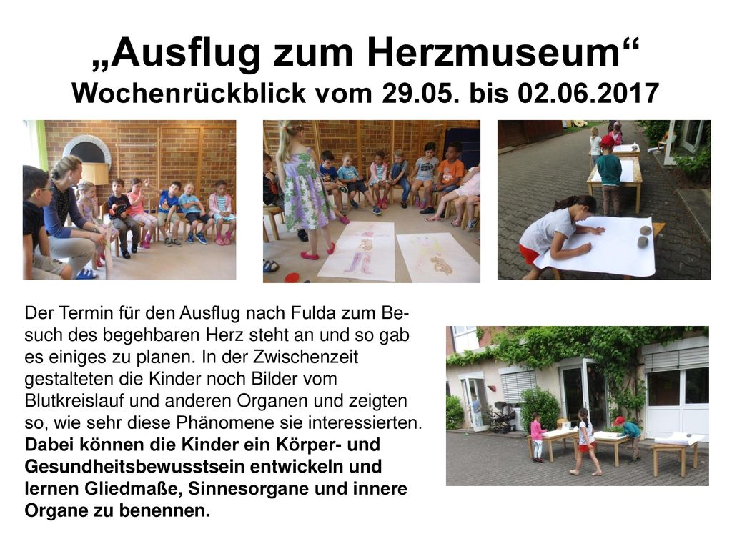 """""""Ausflug zum Herzmuseum Wochenrückblick vom 29.05. bis 02.06.2017"""