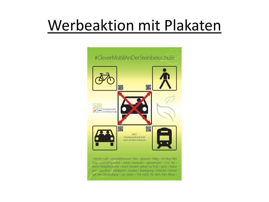 Werbeaktion mit Plakaten