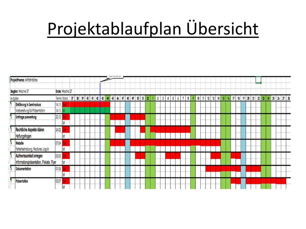 Projektablaufplan Übersicht