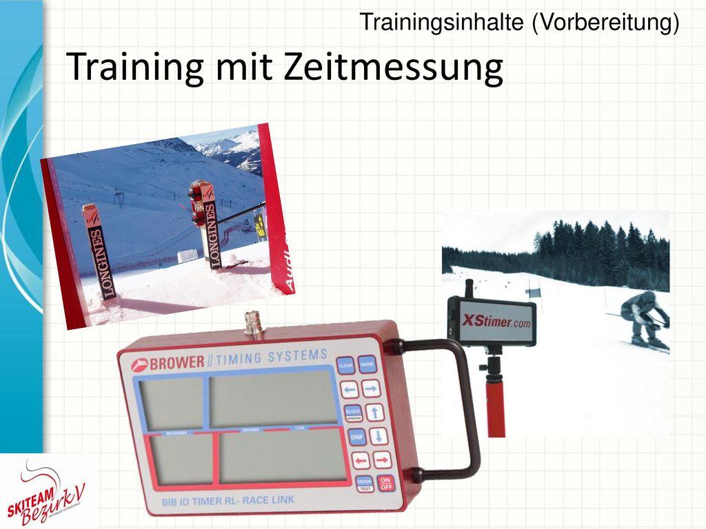 Training mit Zeitmessung