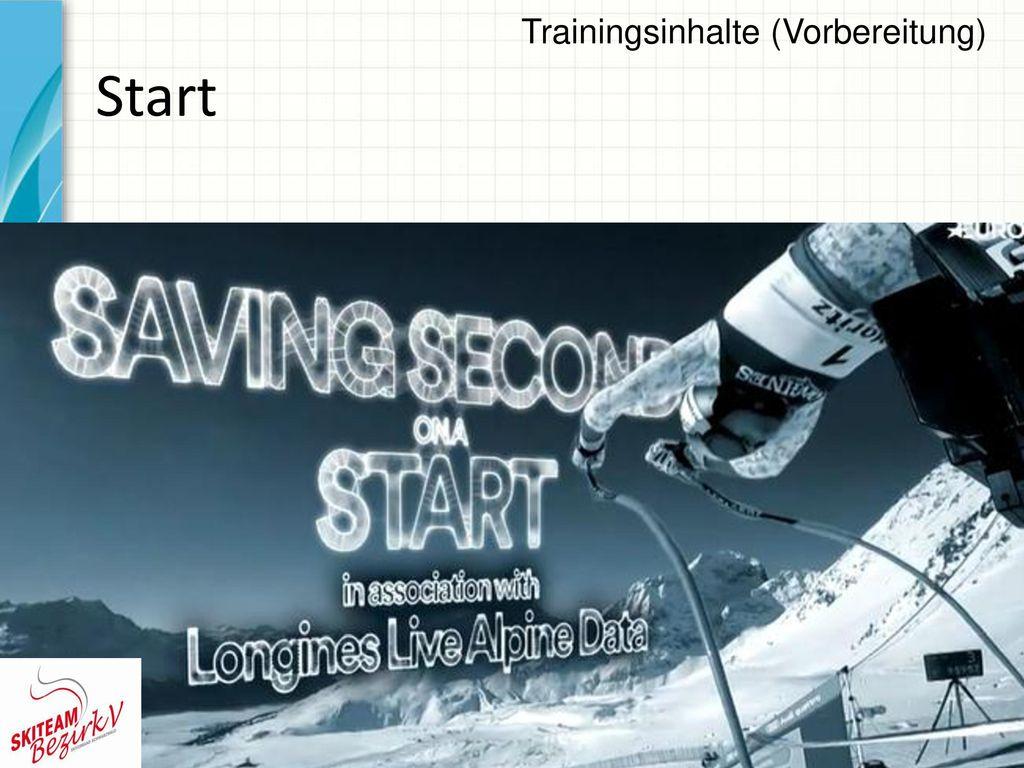 Trainingsinhalte (Vorbereitung)