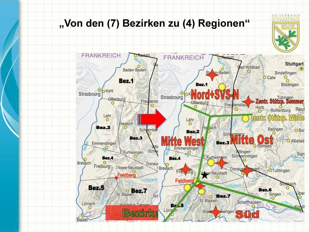 """""""Von den (7) Bezirken zu (4) Regionen"""