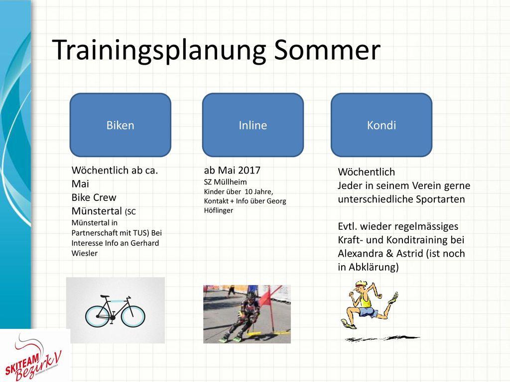 Trainingsplanung Sommer