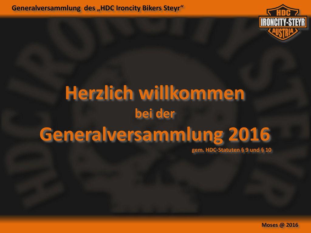 Herzlich willkommen Generalversammlung 2016