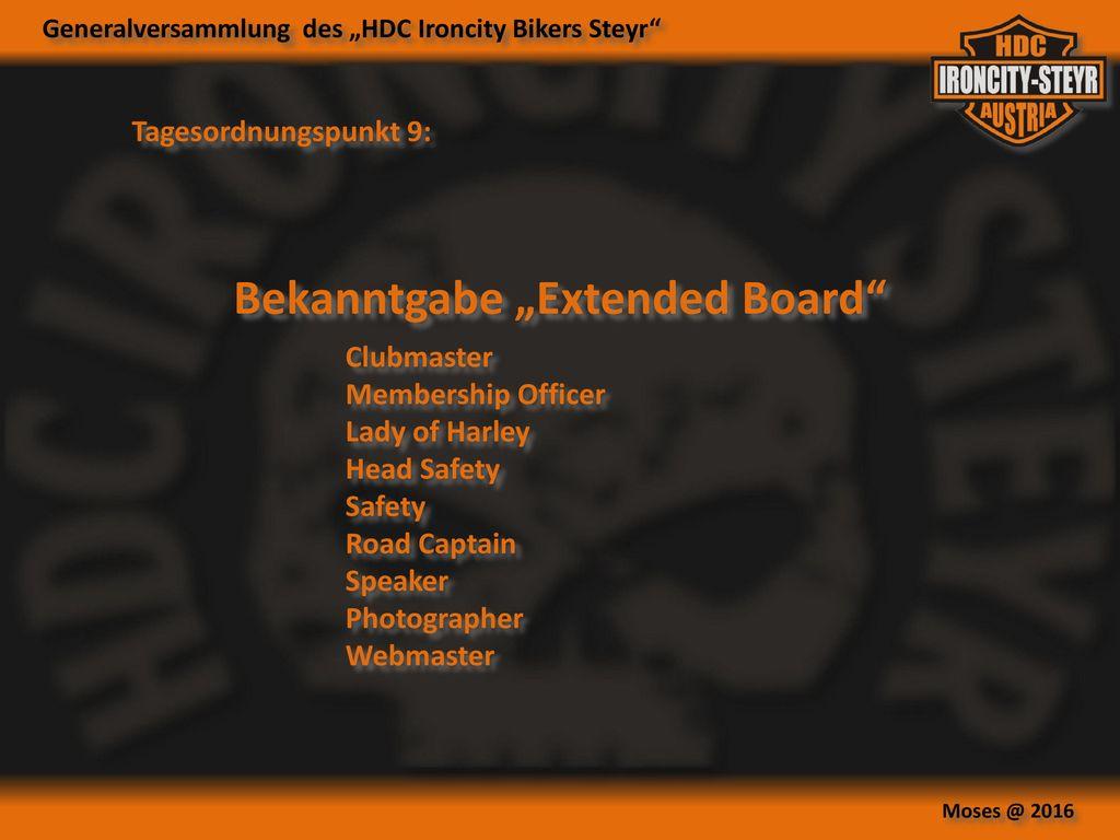 "Bekanntgabe ""Extended Board"