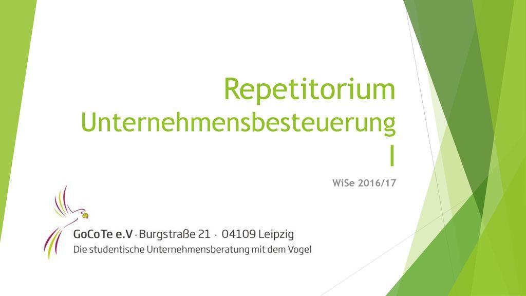 Repetitorium Unternehmensbesteuerung I