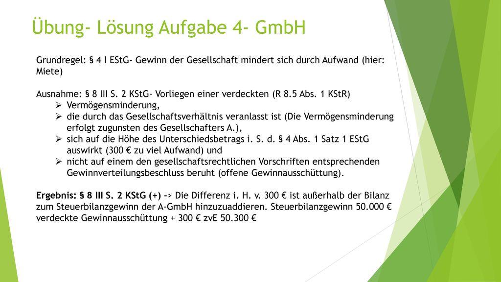 Übung- Lösung Aufgabe 4- GmbH