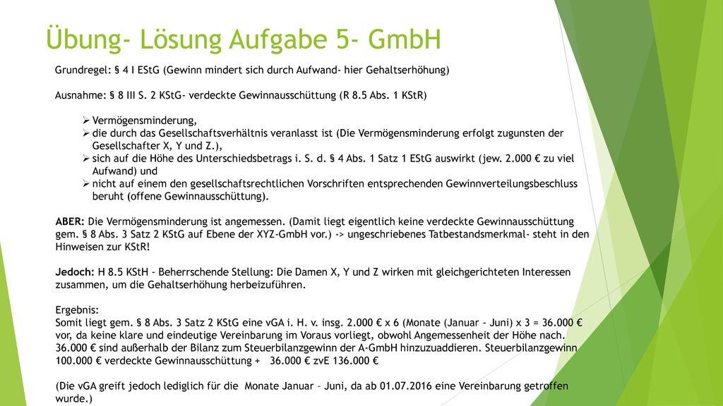 Übung- Lösung Aufgabe 5- GmbH