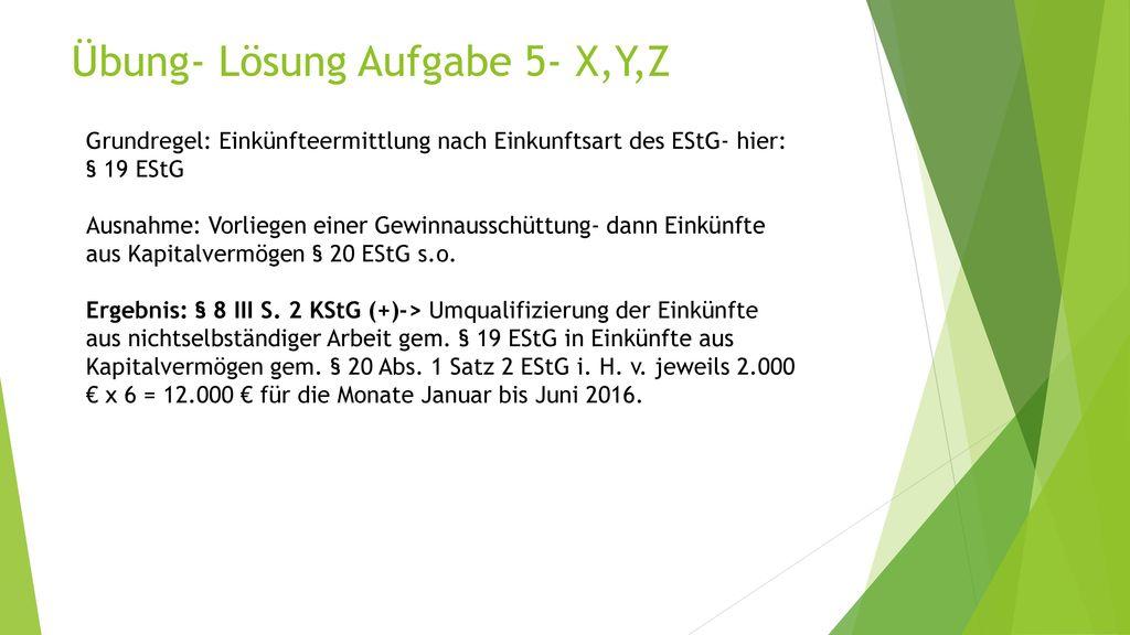 Übung- Lösung Aufgabe 5- X,Y,Z