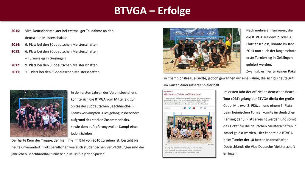 BTVGA – Erfolge 2015: Vize-Deutscher Meister bei erstmaliger Teilnahme an den deutschen Meisterschaften.