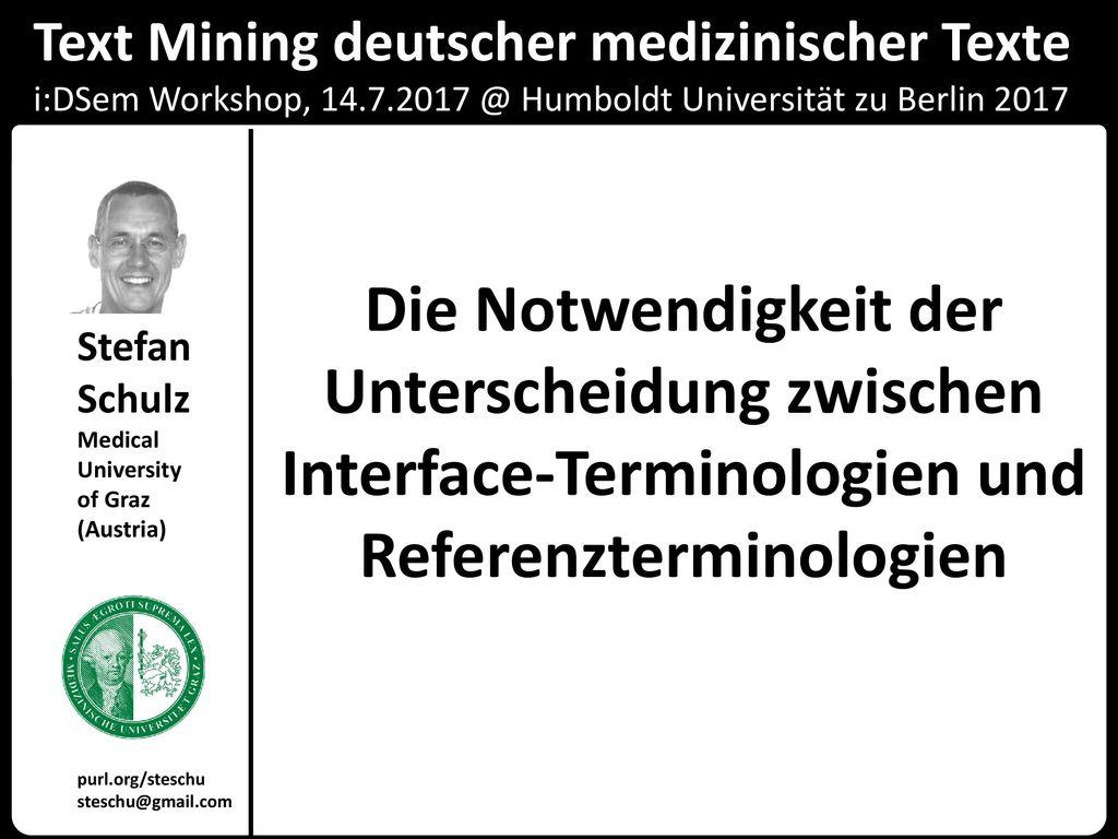 Text Mining deutscher medizinischer Texte