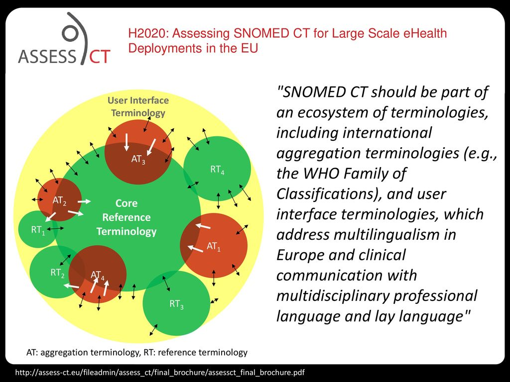 H2020: Assessing SNOMED CT for Large Scale eHealth Deployments in the EU